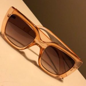 NY & CO- Amber Glow Rectangle Frame Sunglasses